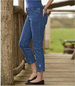 Sedemosminové strečové džínsy