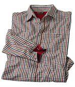 Kockovaná popelínová košeľa Vichy