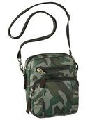 Men's Cross-Body Bag - Camouflage Motif preview1