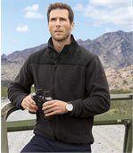 Men's Anthracite Grey Fleece Jacket - Patagonia Passion