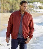 Men's Red Microfibre Summer Jacket preview1