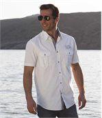 Men's White Aviator Style Shirt preview2