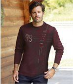 Men's Pack of 2 T-Shirts - Plum Dark Grey preview2