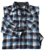 Men's Black & Blue Montana Checked Flannel Shirt preview1