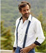 Men's Striped Braces