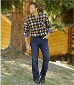 Men's Blue Regular Stretch Jeans