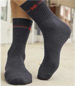 Pack of 5 Pairs of Men's Sports Socks - Grey Black Anthracite Grey preview2