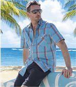 Men's Short Sleeve Dream Island Shirt - Turquoise preview1