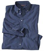 Men's Striped Blue Long Sleeve Shirt - Canada Nature