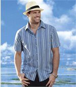 Men's Blue Striped Shirt