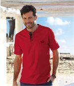 Set van 3 Outdoor T-shirts met tunesische kraag preview2