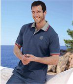 Pack of 2 Men's Polo Shirts - White Blue - Ocean Team preview3