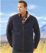 Outdoorová fleecová bunda podšitá umělým beránkem preview3