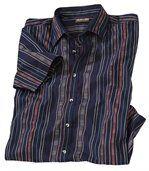 Proužkovaná košile s navažskými motivy preview2