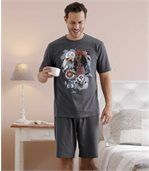 Men's Anthracite Native Spirit Short Pyjama Set