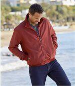 Men's Red Microfibre Summer Jacket
