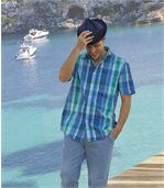 Men's Blue Island Checked Shirt preview3