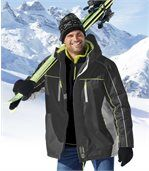 Men's Grey High-Performance Ski Parka preview1