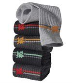 Pack of 5 Pairs of Men's Sports Socks - Grey Black Anthracite Grey