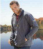 Pack of 2 Men's Microfleece Jackets - Black Blue  preview2