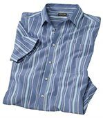 Men's Blue Striped Shirt preview2