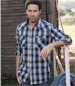 Popelínová košeľa Country Western preview4