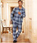 Klassischer Schlafanzug aus Flanell preview1