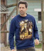Molton-Sweatshirt American Roots preview1