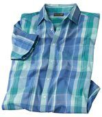 Men's Blue Island Checked Shirt preview2