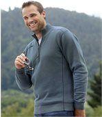 Bavlněný svetr se zipovým zapínáním u krku preview1