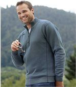 Pullover mit Troyer-Kragen preview1
