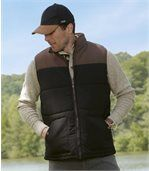 Men's Essential Gilet and Cap Set - Black Brown preview2