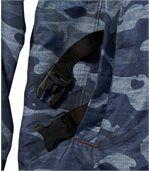 Men's Blue Camouflage Windbreaker preview6