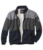Trykotowa bluza z podszewką z kożuszka sherpa Grey Rock preview2