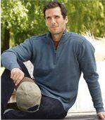 Bavlněný svetr se zipovým zapínáním u krku preview2