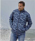 Men's Blue Camouflage Windbreaker preview3