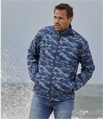 Windbreaker mit Camouflage-Aufdruck preview3