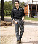 Šedé strečové džíny preview2