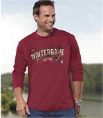 Pack of 2 Men's Long Sleeve Tops - Black Red - Canada Winter preview2