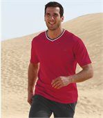 Pack of 2 Men's Tenerife T-Shirts - Red Grey preview2
