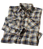 Geruit herfstoverhemd van flanel preview2