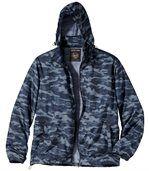 Men's Blue Camouflage Windbreaker preview4