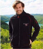 Men's Black Water-Repellent Fleece Jacket preview1