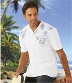 T-Shirt mit Henleykragen Palm Leasure preview1