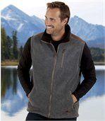 Fleecová vesta zateplená umělým beránkem preview1