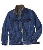 Dżinsowa kurtka ze sztruksowym kołnierzem preview2