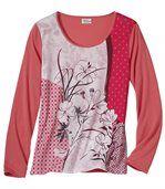 T-Shirt Blumen-Patchwork  preview2