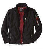 Men's Black Stylish Fleece Jacket preview2