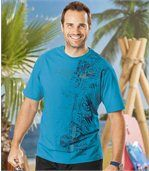 Pack of 2 Men's T-Shirts - Blue Grey preview3