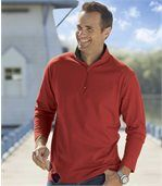 Pack of 2 Men's Long Sleeve Tops - Grey Red preview2